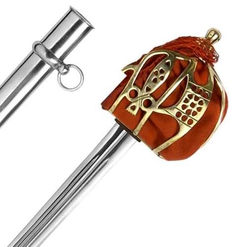 Schwert Basket Hilt Solid Brass Hilt Abb. Nr. 3