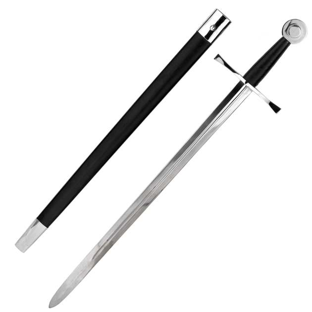 Mittelalter-Kampfschwert mit Scheide Abb. Nr. 1