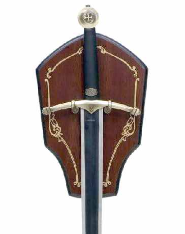 Bild Nr. 2 Ritterschwert mit Holzwandplatte.