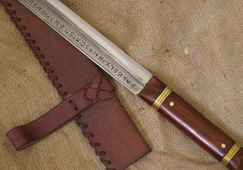Bild Nr. 4 Sax von Beagnoth mit Lederscheide Scramasax
