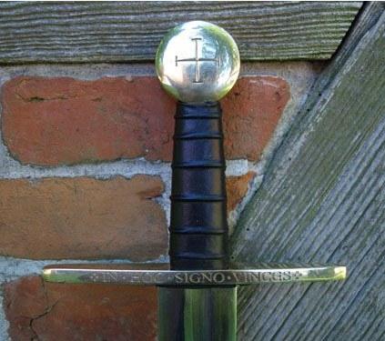 Bild Nr. 2 Schaukampf-Kreuzritterschwert graviert