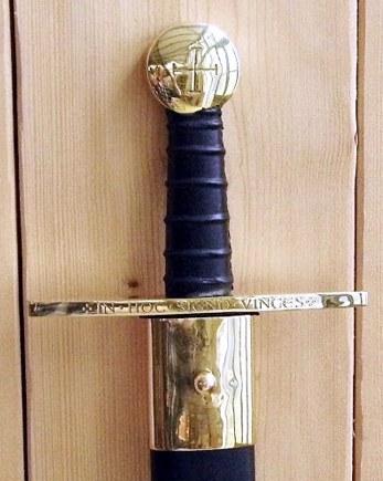 Bild Nr. 4 Schaukampf-Kreuzritterschwert graviert