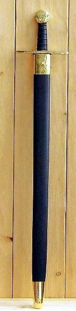 Bild Nr. 5 Schaukampf-Kreuzritterschwert graviert