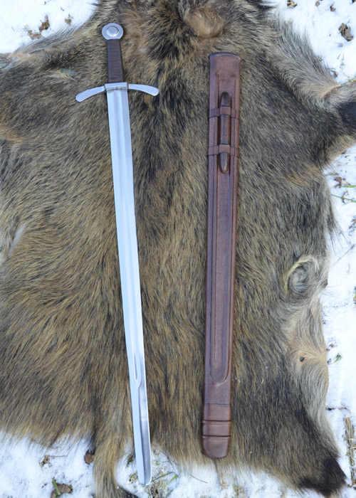 Bild Nr. 4 Scheibenknauf Schaukampfschwert mit Scheide