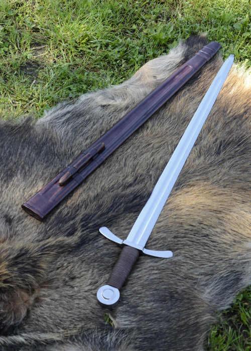 Bild Nr. 5 Scheibenknauf Schaukampfschwert mit Scheide