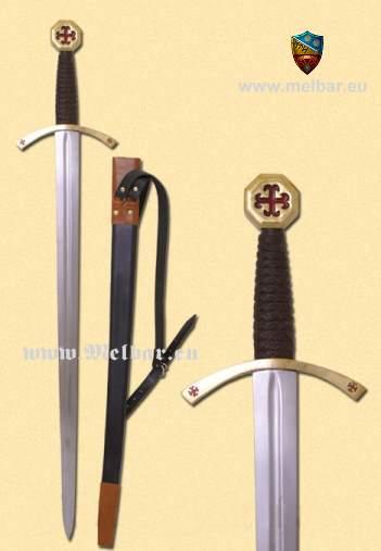 Bild Nr. 5 Templer-Schwert mit Scheide