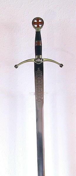 Templerschwert mit Schwertständer Abb. Nr. 3