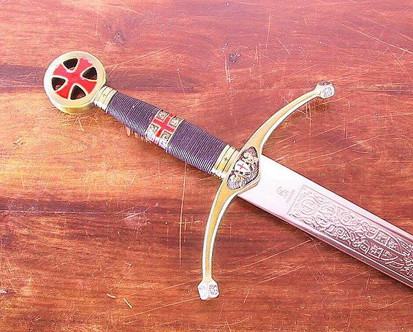 Templerschwert mit Schwertständer Abb. Nr. 1