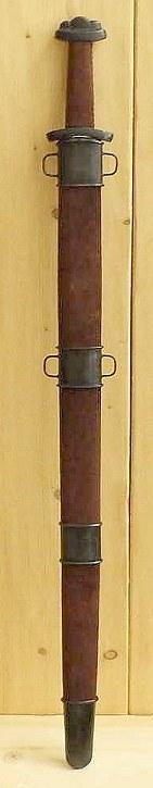 Wikinger Schaukampfschwert (Wildleder Antik) Abb. Nr. 4