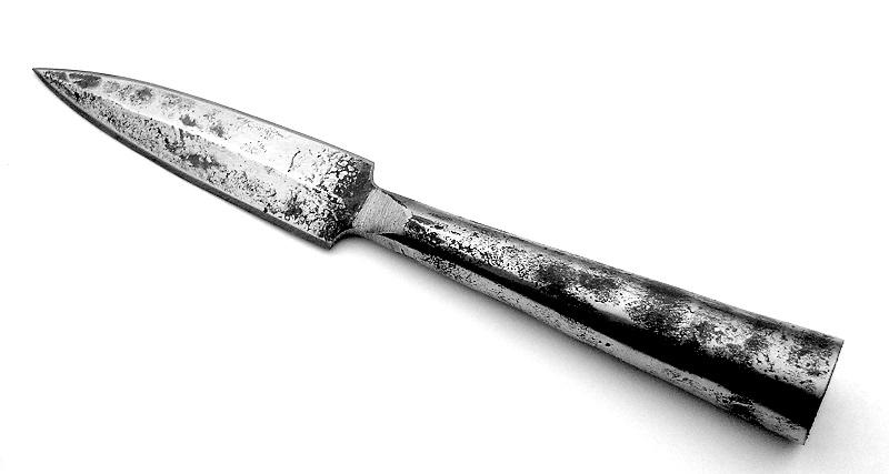 Bild Nr. 2 Speer mit Kreuzritter-Templerbanner