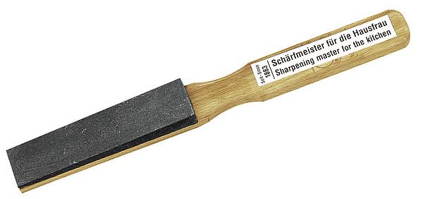 Haushalt-Abziehstein, 11 x 3 cm, auf Holzheft
