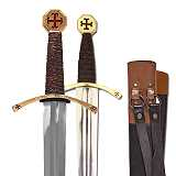 Schwerter SET Templerschwert und Templerdolch mit Scheide