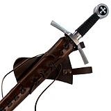 Schwerter Mittelalter Kampfschwert mit Lederscheide