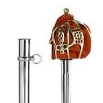 Abb. Schwert Basket Hilt Solid Brass Hilt