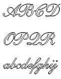Gravuren Schwertgravur Englische Schreibschrift