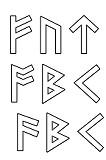 Gravuren Schwertgravur RUNEN outline