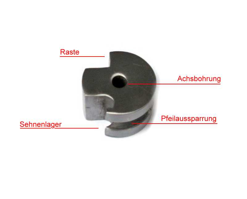 Stahl-Nuss für Mitttelalter-Armbrust Abb. Nr. 4