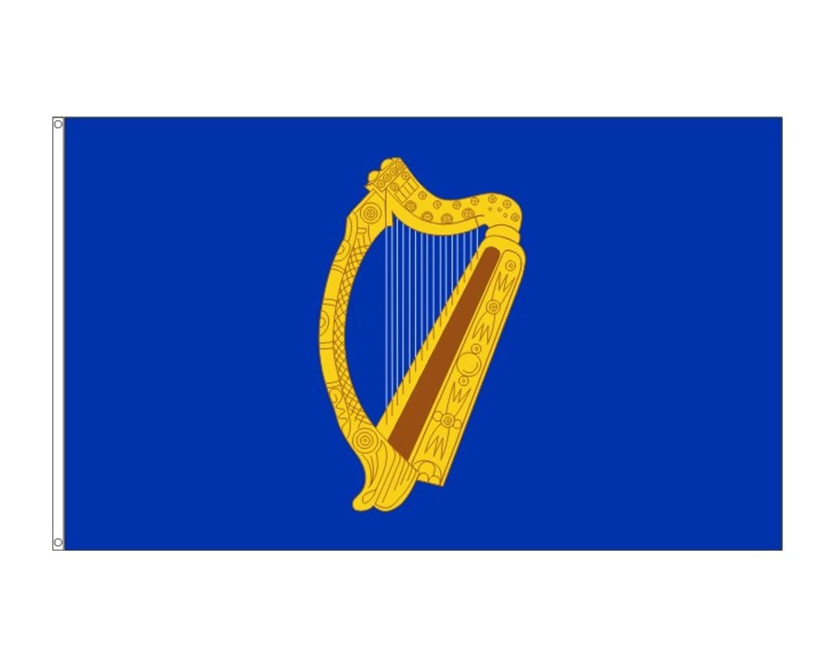 Irland-Präsidentenfahne Harfe