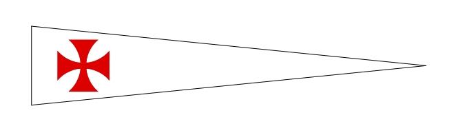 Tempelritter-Wimpel-Banner