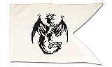 Ritterfahnen Weiße Ritterfahne Drache