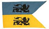 Ritterfahnen Ritterfahne Löwe Blau Gelb