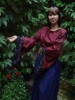 Mittelalter Gewandungen Shop Mittelalter Bluse rot schwarz