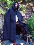 Maentel Mittelalter Umhang Wolle schwarz