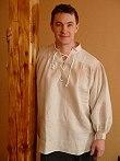 Mittelalterhemden Mitelalterhemd Leinen weiß