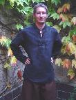Mittelalterhemden Mittelalterhemd Alkantara schwarz