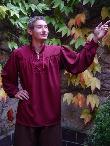 Mittelalterhemden Mittelalterhemd bordaux