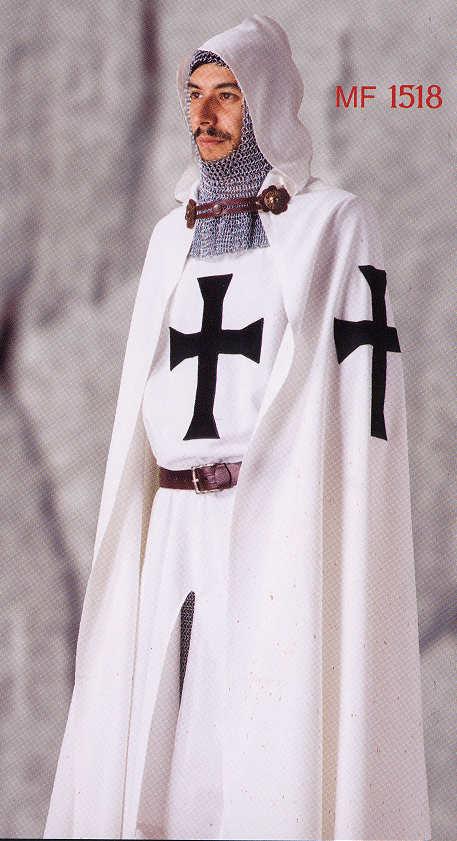 Mantel Deutscher Ritterorden Umhang mit Kapuze