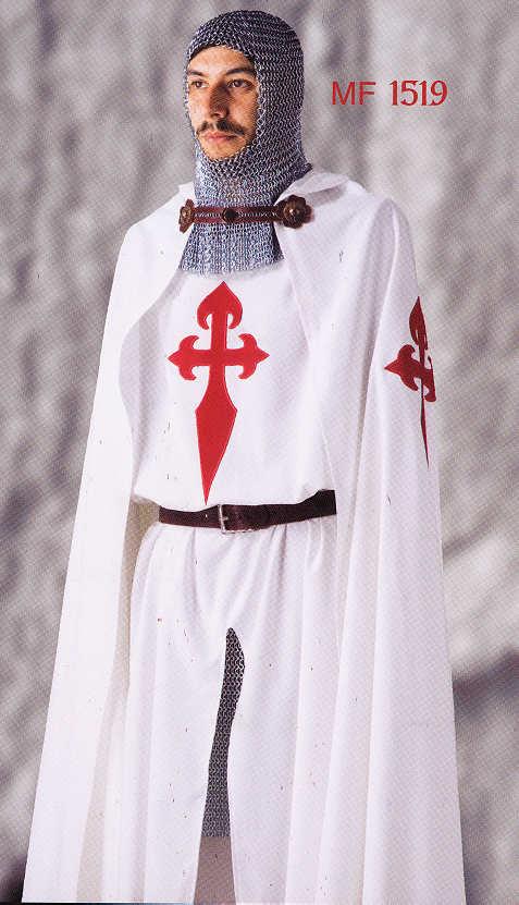 Umhang mit Kapuze St. James Orden von Santiago