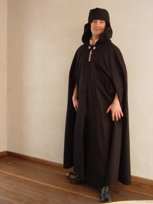 Mittelalter-Umhang BW schwarz