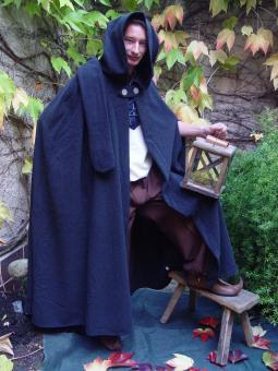 Mittelalter Umhang Wolle schwarz