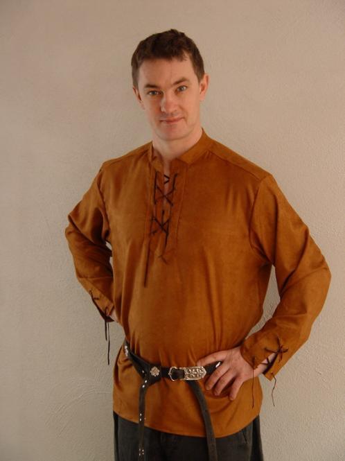 Mittelalterhemd Alkantara braun