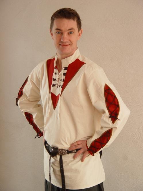 Mittelalterhemd mit Einsätzen