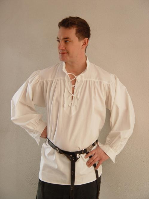 Mittelalterhemd BW Weiß