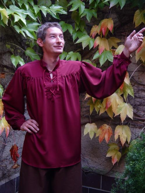 Mittelalterhemd bordaux