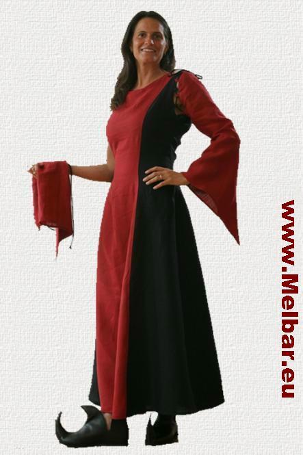 Mittelaltergewand rot schwarz