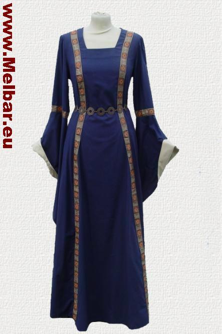 Mittelaltergewand Rahel blau