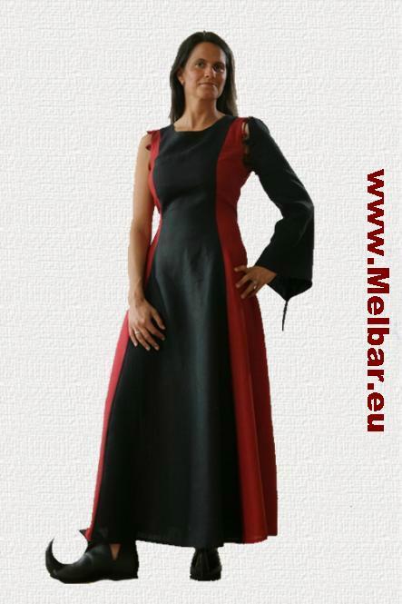 Mittelaltergewand Mittelalterkleid schwarz/rot,