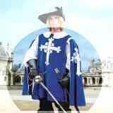 Maentel Musketier Cape blau Samt