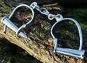 Kurioses Kurioses-Shop Mittelalterliche Handschellen Stahl vernickelt