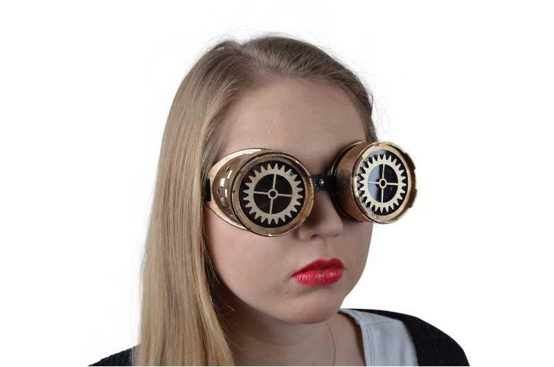 Steampunk Brille Zahnrad