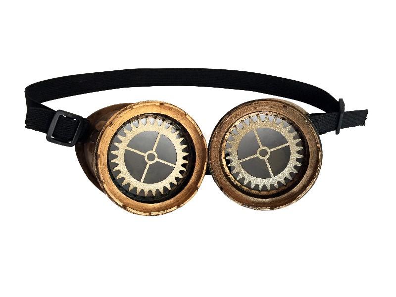 Bild Nr. 2 Steampunk Brille Zahnrad