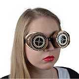 Larp Steampunk-Shop Steampunk Brille Zahnrad