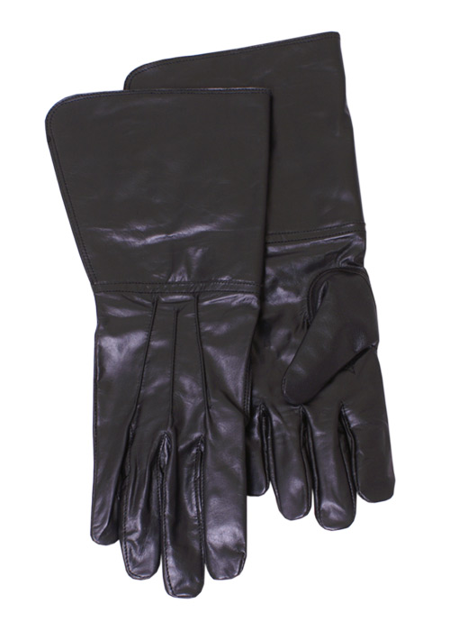 Stulpenhandschuhe, schwarz