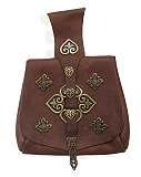 Birka-Tasche Wikinger braun mit Bronzechlägen