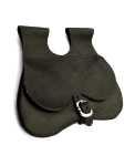 Taschen Nieren-Ledertasche schwarz