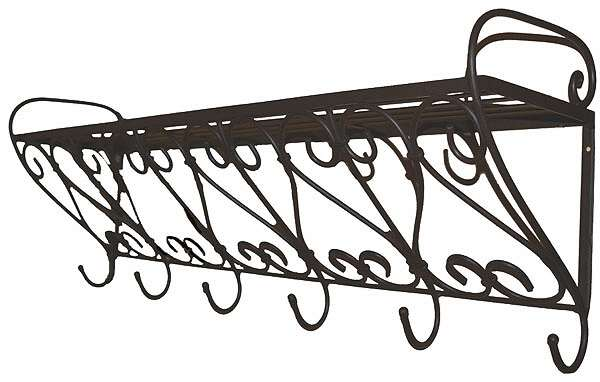 eisen gardrobe regal mit haken. Black Bedroom Furniture Sets. Home Design Ideas